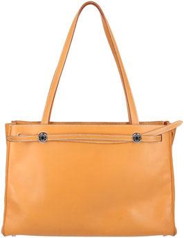 Hermès Kabana Schultertasche aus Leder in Braun