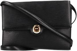 Louis Vuitton Pochette Arche Umhängetasche aus Epi Leder in Kouril Schwarz