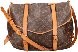 Louis Vuitton Saumur 40 Umhängetasche aus Monogram Canvas