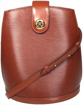 Louis Vuitton Cluny Schultertasche aus Epi Leder in Kenyan Fawn Braun