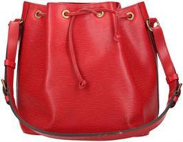 Louis Vuitton Noé Petit Model Schultertasche aus Epi Leder in Castillian Rot