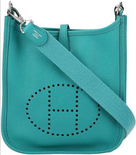 Hermès Evelyne 16 Amazone Veau Epsom Bleu Paon