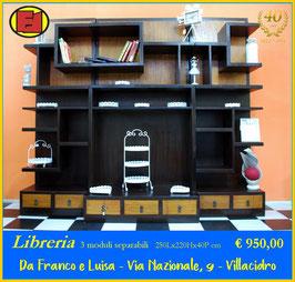 Libreria 3 moduli - pezzo unico