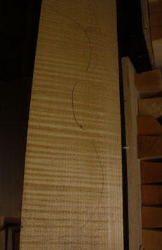 Fond, manche, eclisses pour violon en érable bien ondé qualité 1