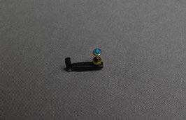 Tendeur noir avec tête de vis Turquoise