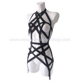 'Miss X' harness with garters