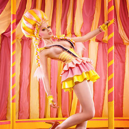 'Candy floss circus' wig