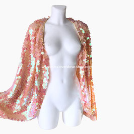 'Champagne' sequin cape