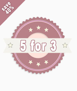 5 for 3 - save 40% - NO SHIPPING COSTS