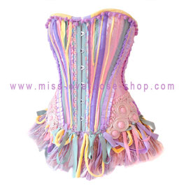 'Pastel Rainbow' corset