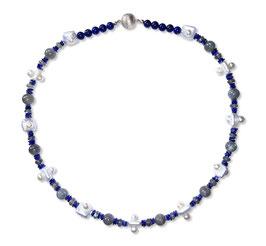 Collier Harmonie en Bleue