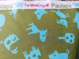 Reststück Farbenmix Püdorf-Popeline grün