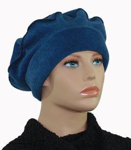Ballonmütze Baskenmütze Fleecemütze blau Polly