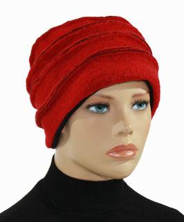 Damenmütze Wollmütze Hut Walkmütze  rot Lotta