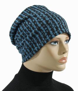 Damenmütze Beanie Mütze petrol schwarz Enzian