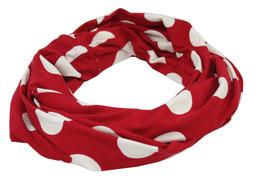 Loop Schal rot mit großen weißen Punkten Arlet