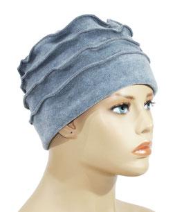 Fleecemütze Damenmütze Bändchen eisblau Fibi