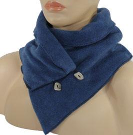 Damenschal Kurzschal blau Polly