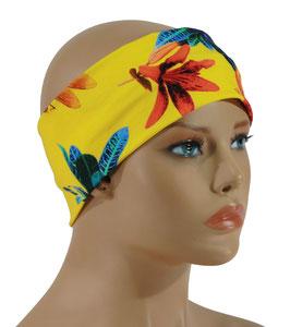 Stirnband Haarband gelb Lilie