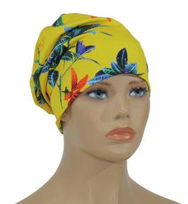 Damen Beanie Mütze Jerseymütze gelb Lilie
