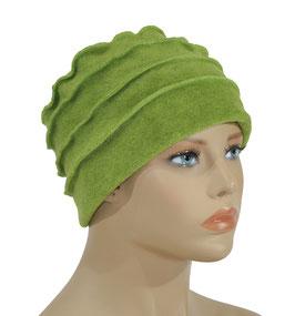 Damen Fleece Mütze Bändchen grün Pina