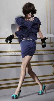 LANVIN Designerkleid blau
