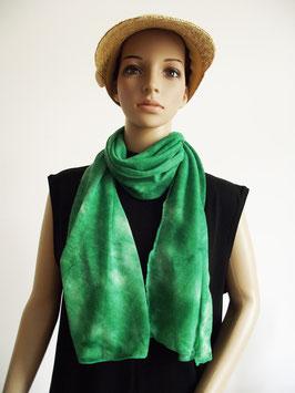 Schal Haarschmuck batik grasgrün