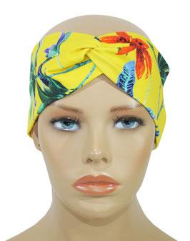 Turban Stirnband Haarband gelb Lilie