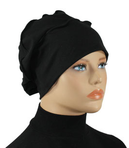Lagenlook Basken Barett Mütze schwarz Reina