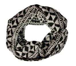 Loop Schal Schlauchschal schwarz-weiß Renate