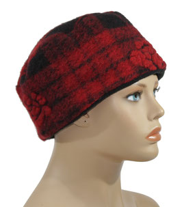 Walkkappe rot schwarz Anne