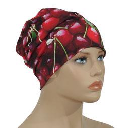 Beanie Mütze rote Kirschen