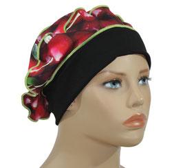 Ballonmütze Baskenmütze Damenmütze schwarz rot