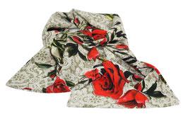 Seidenschal Schal Haarband Seide rote Rosen