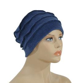 Damen Fleece Mütze Bändchen blau Polly