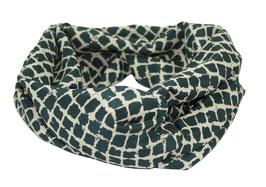 Loop Schal grün-crem Laya