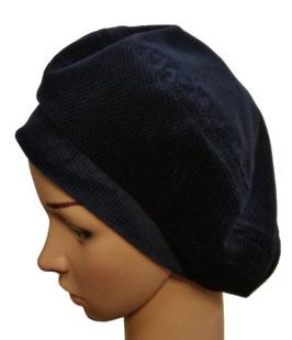 Damenbaske Samt blau