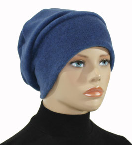 Beanie Fleece Mütze blau Polly