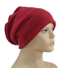 Beanie Fleece Mütze rot Romi