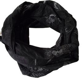 Loop Schal Taft schwarz Pailletten Schal