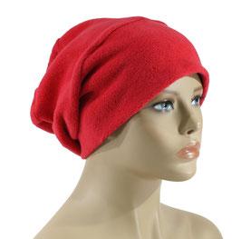Chemo Beanie Fleece Mütze rot Felie
