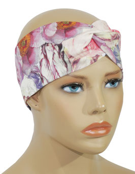 Damen Stirnband Turban Rose altrosa Rosina