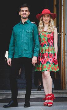 original 50er Jahre Kleid mit Blumendruck