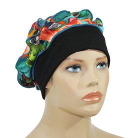 Ballonmütze Baskenmütze Jerseymütze Fatma schwarz bunt