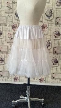 Petticoat Tüllrock Unterrock weiss