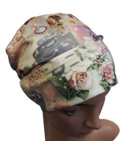 Beanie Mütze Damenmütze Stoffmütze Paris