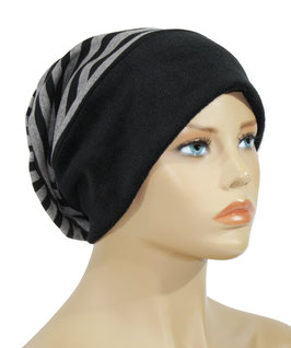 Beanie Mütze Wintermütze grau schwarz Sina