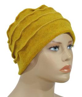 Fleece Mütze Bändchen senfgelb Palina