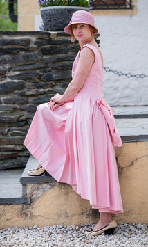 Laura Ashley Vintage Kleid viktorianisch Hochzeits Kleid rosa