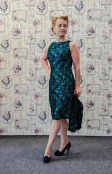 Vintage Etui Kleid 50er